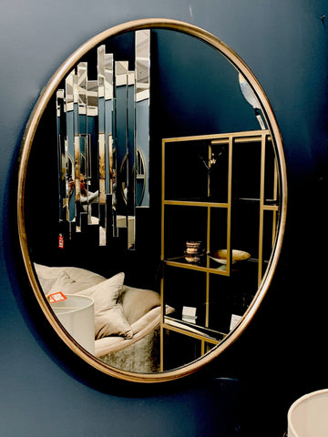 Liberty 120 cm round mirror  gold