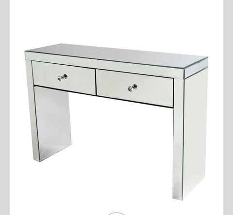 Make up-station / dressing  console table mirrored