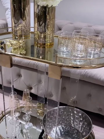 Oria Gold Drinks Trolley