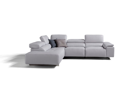 Blossom finest Italian Leather chaise sofa