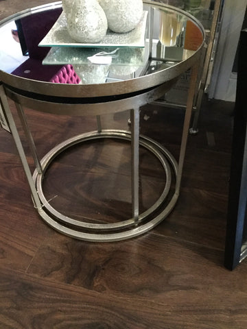Avery nest of side tables silver
