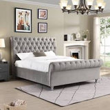 Kildare chesterfield Super King bed stunning value Silver