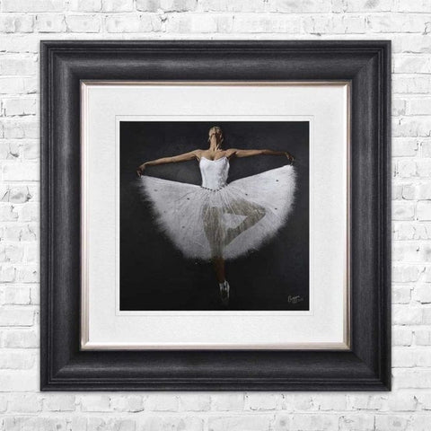Dancing Ballerina pictured framed in 90x90cm  with Vegas Scoop frame