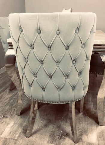Chanel tufted dining chair with polished leg special offer