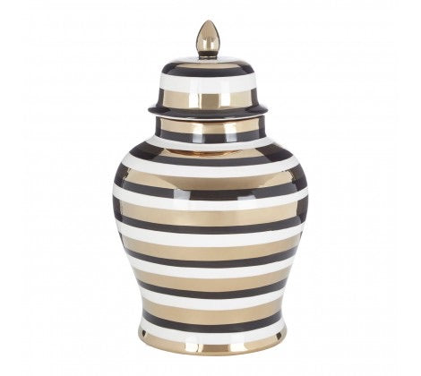 Zeina Gold  striped jar large