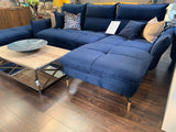 Axel chaise sofa plus large footstool bespoke options