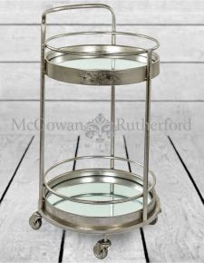 Round bar trolley silver