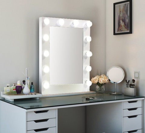 Hollywood mirror white