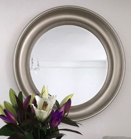 Round champagne 90 cm beaded mirror special value