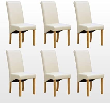 Leah  PU dining chair IN CREAM
