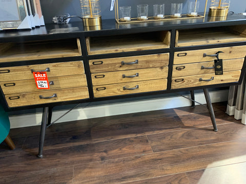 Clearance Low Industrial 9 drawer  cabinet / sideboard