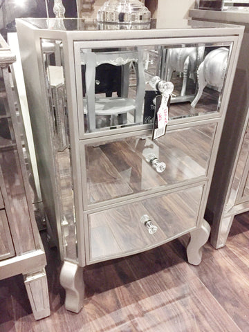 3-drawer mirrored Babs bedside locker  COVID 19 collection price