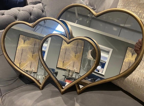 Velentines Heart Mirrors CLEARANCE OFFER ( click n collect ).