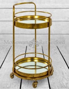 Round bar trolley gold bronze