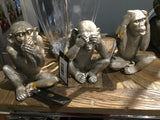 "Silver monkey 3 options 8 "" see no evil etc"