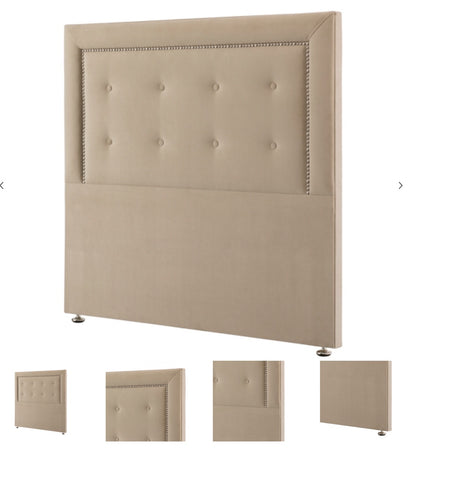 Respa Sapphire buttoned  headboard with studs king size.