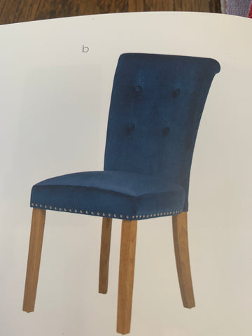 Louisa tufted velvet chairs with buttons