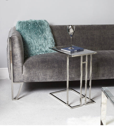 Sofa table chrome and glass Harriet