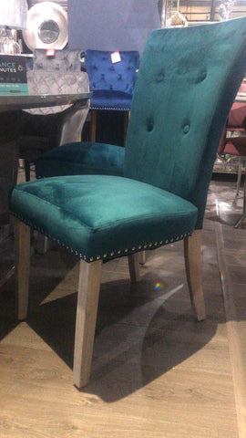 Alice velvet dining chairs  teal , grey , , green