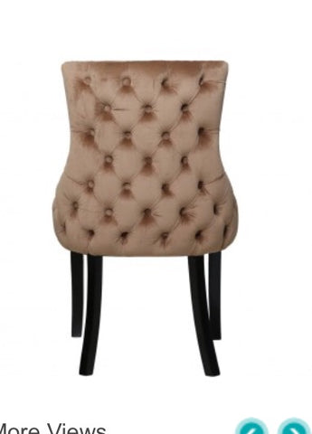 Luxurious Lucia Tufted Upholstered Dining Chair champagne