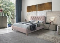 Sonya bed in Blush Pink in all sizes including 4 ft