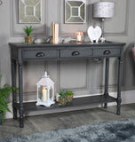 Deltoy   Grey 3 Drawer large Console Table Click n Collect