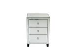 Rachel mirrored  3 drawer bedside cabinet