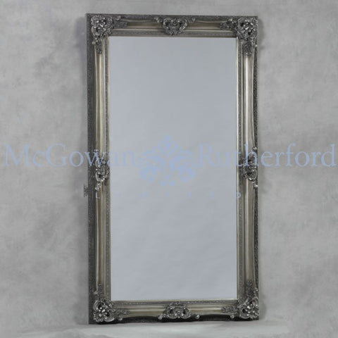 XL Regal  X wide  French  mirror 7ft /210 cm Silver