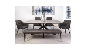 Manhattan extending dining table with cross legs and  *smart top .  180 cm to 220 cm. PRE ORDER