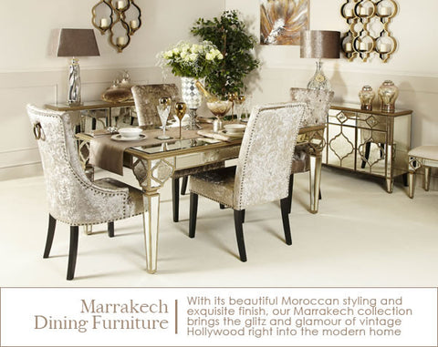 Marrakech Mirrored Dining Table