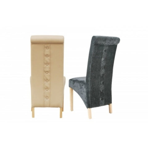 Rhianna buttons on the back  FX leather dining chairs 3 colours