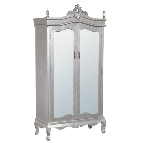French wardrobe armoire with full mirror doors
