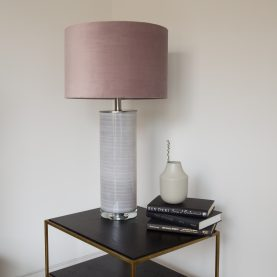 UNI  Ceramic  table lamp with pinky grey  or Taupe  shade