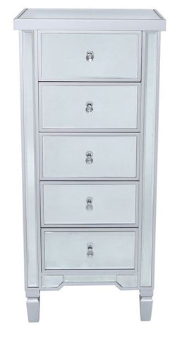 Vision 5 Drawer Cabinet Silver