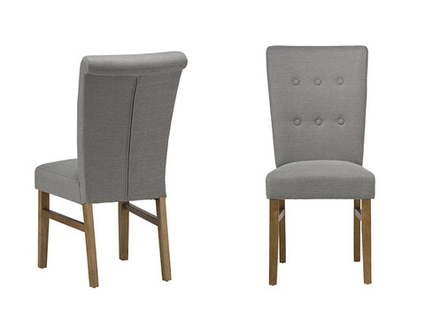 Vigo upholstered dining chairs in Silver Grey