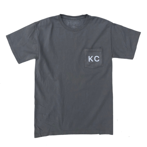 KC POCKET T-SHIRT - CONCRETE GREY