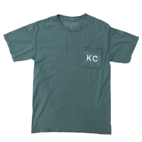 KC POCKET T-SHIRT - CYPRESS GREEN