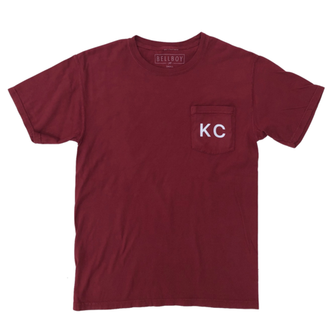 KC POCKET T-SHIRT - CAYENNE