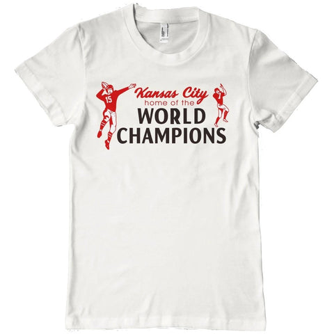 KC SUPERBOWL CHAMPS T-SHIRT - WHITE