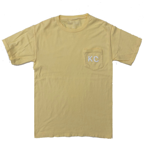KC POCKET T-SHIRT - SUMMER SQUASH YELLOW