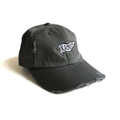 PENNANT HAT - DISTRESSED BLACK