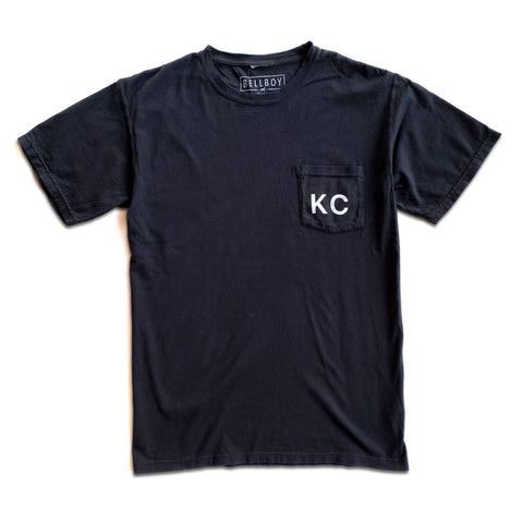 KC POCKET T-SHIRT - BLACK