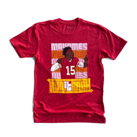 MAHOMES RUN IT BACK T-SHIRT