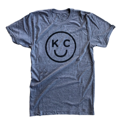 KC SMILEY T-SHIRT - GREY