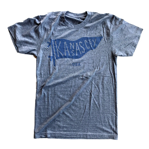 KC PENNANT T-SHIRT - GREY