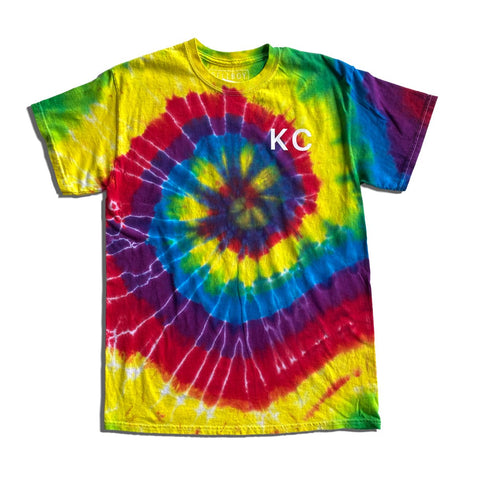 KC RAINBOW TIE DYE T-SHIRT - DARK