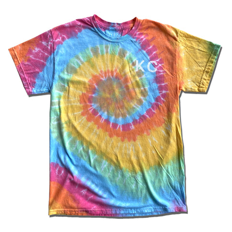 KC RAINBOW TIE DYE T-SHIRT - LIGHT