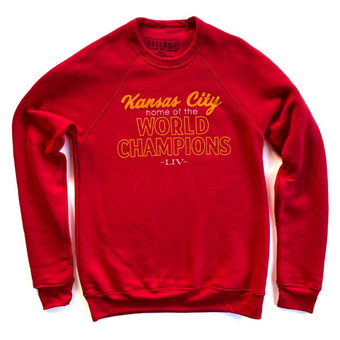 KANSAS CITY WORLD CHAMPIONS SWEATSHIRT - RED