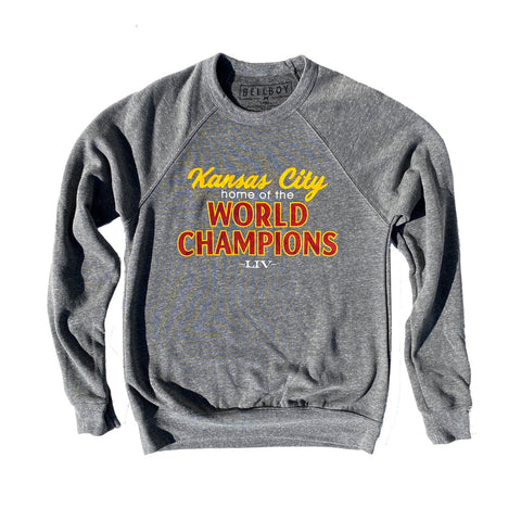 KANSAS CITY WORLD CHAMPIONS SWEATSHIRT - GRAY