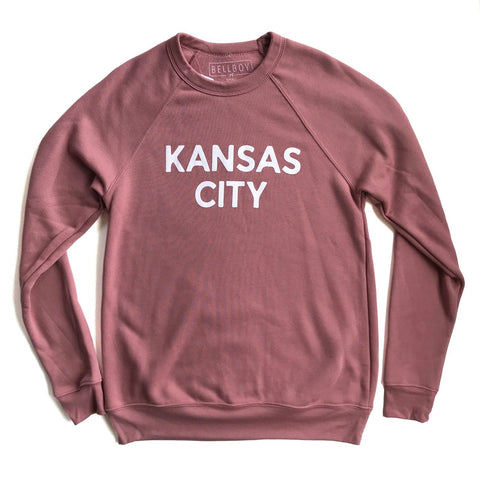 SIMPLE KANSAS CITY SWEATSHIRT - MAUVE